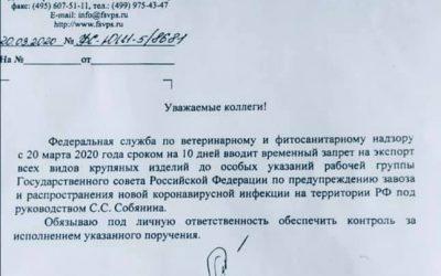 Запрет на экспорт — РФ